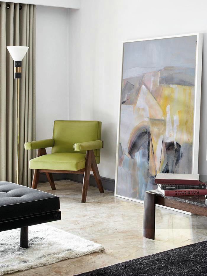 Large Abstract Art,Vertical Palette Knife Contemporary Art,Canvas Artwork For Sale,Grey,Yellow,Black.etc
