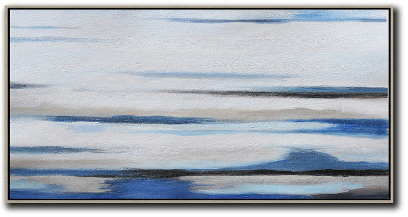 Large Abstract Art Hand Painted Panoramic Abstract Painting