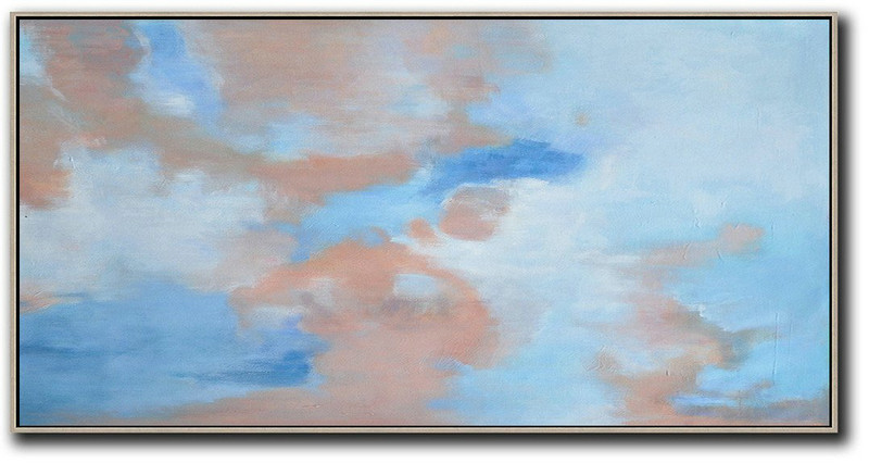 Abstract Painting Extra Large Canvas Art,Panoramic Abstract Landscape Painting,Extra Large Paintings,Nude,Blue,White.etc