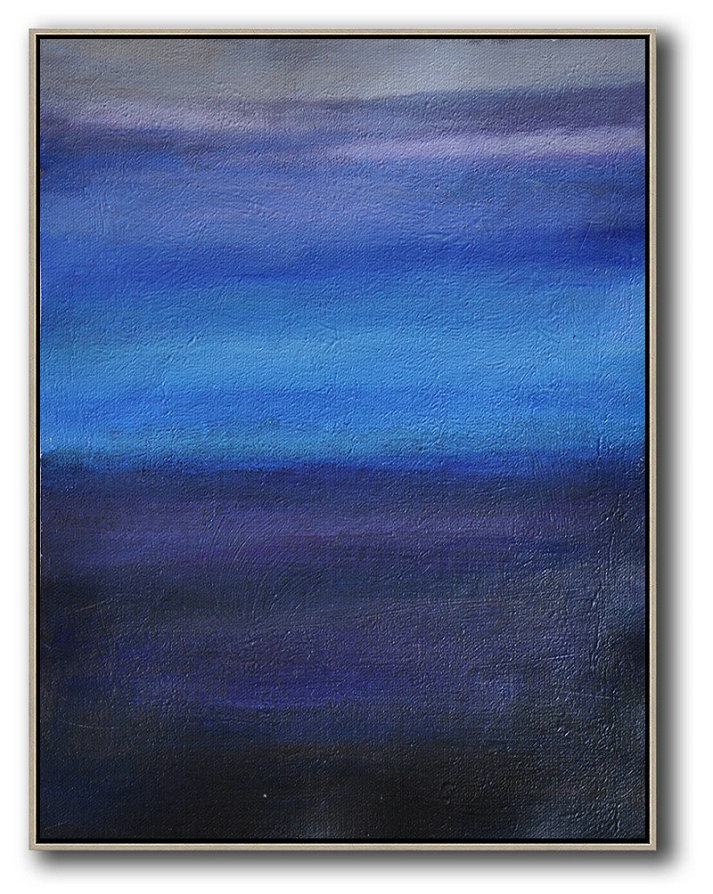 Original Abstract Painting Extra Large Canvas Art,Oversized Abstract Landscape Painting,Acrylic Painting On Canvas,Blue,Dark Blue,Grey.etc