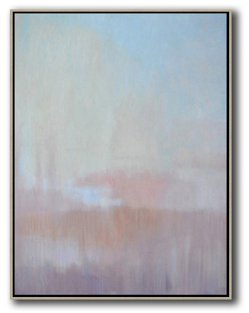 Large Abstract Painting Canvas Art,Oversized Abstract Landscape Painting,Acrylic Painting Canvas Art,Pink,Purple,Blue.etc