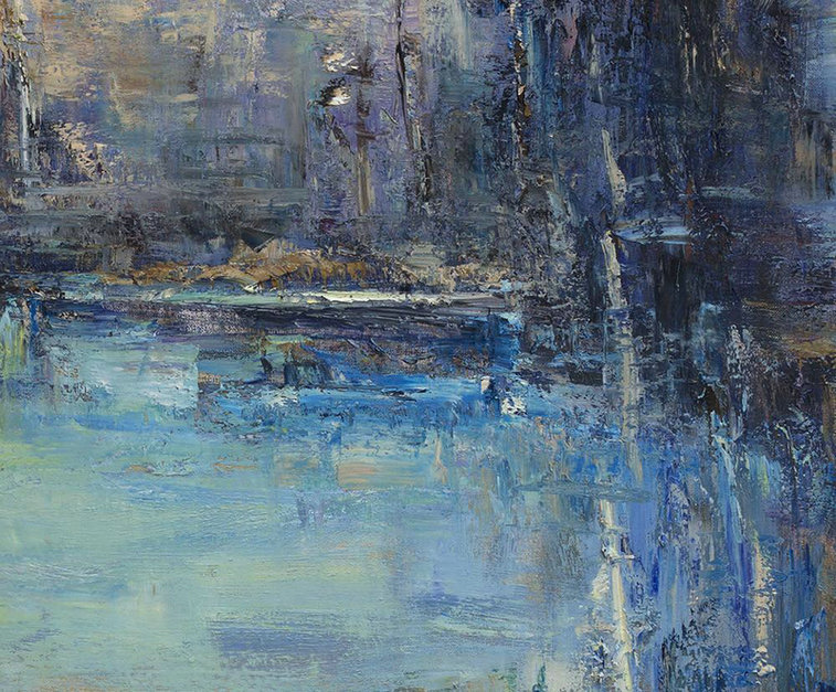 Handmade Large Contemporary Art Oversized Abstract Landscape