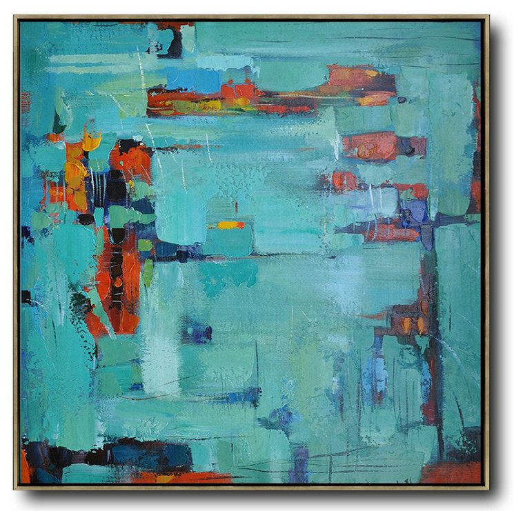 Extra Large Textured Painting On Canvas,Oversized Contemporary Art,Huge Abstract Canvas Art,Green,Blue,Red.Etc