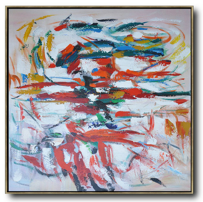 Large Modern Abstract Painting,Oversized Contemporary Art,Modern Art Abstract Painting,Red,White,Blue,Orange.Etc