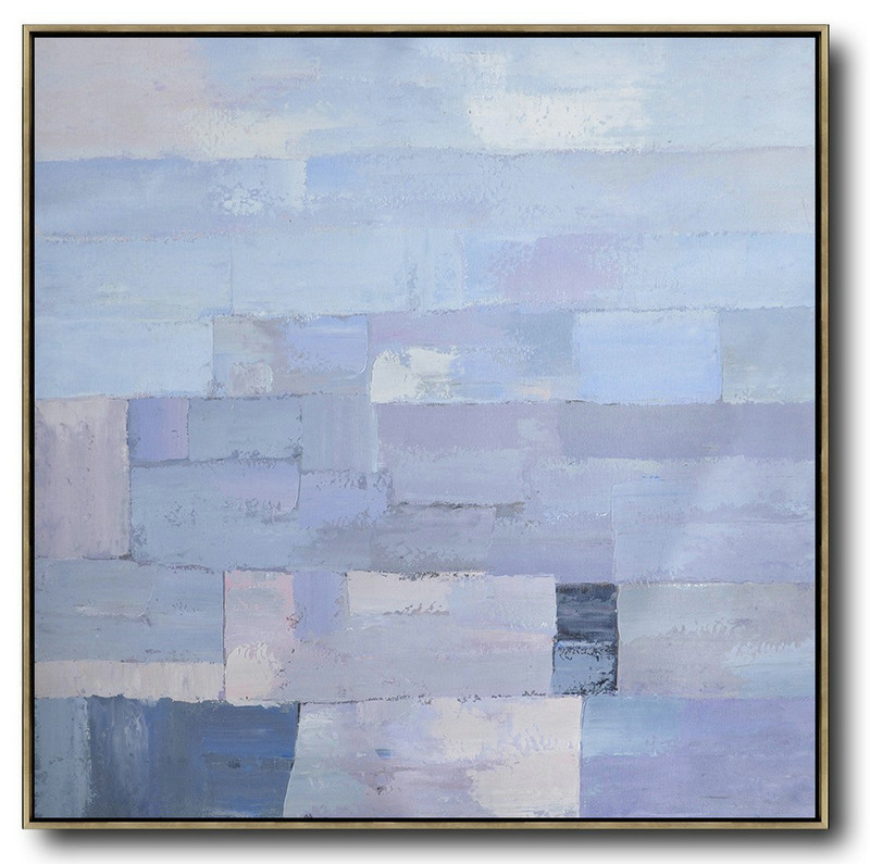 Abstract Painting Extra Large Canvas Art,Oversized Contemporary Art,Hand Painted Abstract Art,Violet Ash,Grey,Blue.Etc