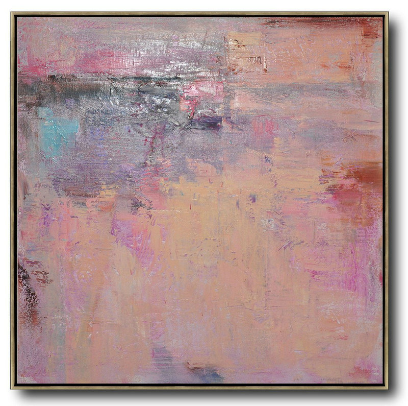 Original Abstract Painting Extra Large Canvas Art,Oversized Contemporary Art,Xl Large Canvas Art,Nude,Blue,Purple,Pink.Etc