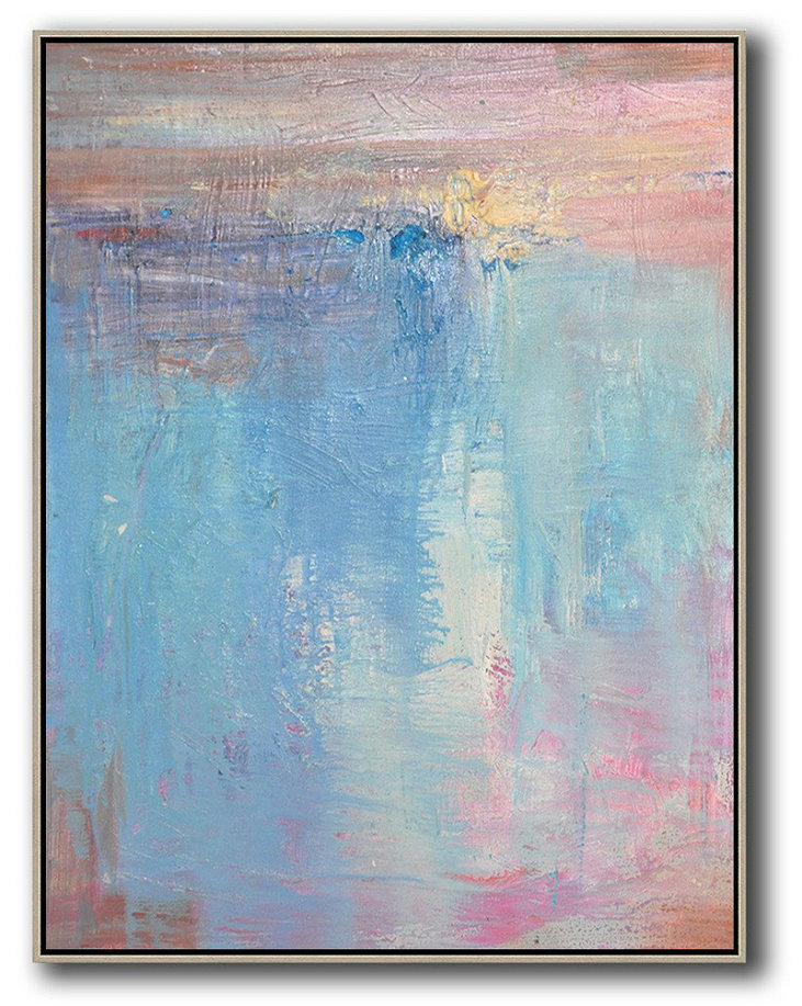 Large Abstract Art,Vertical Palette Knife Contemporary Art,Huge Abstract Canvas Art,Pink,Nblue,Purple.Etc