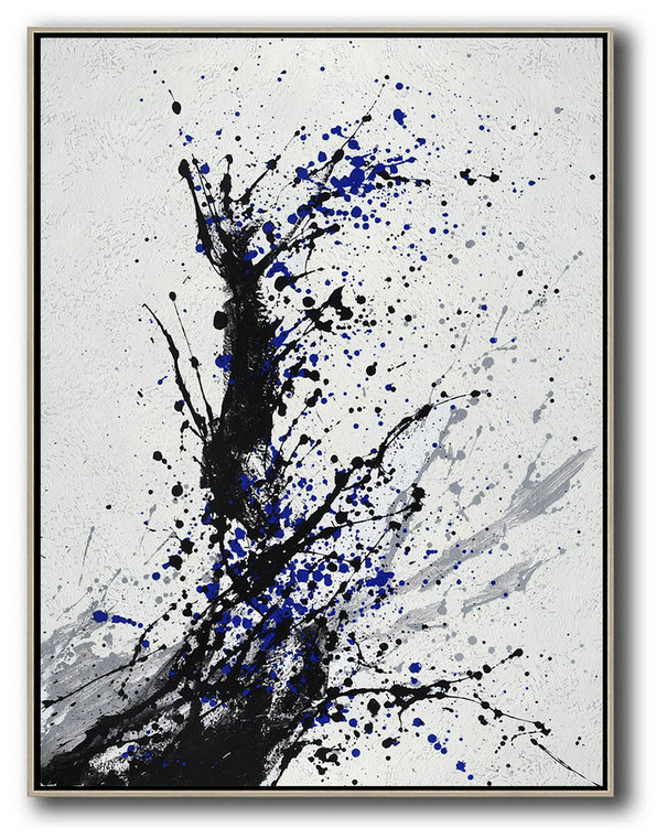 Abstract Painting Extra Large Canvas Art,Hand-Painted Black,Hand Painted Acrylic Painting #H5V5