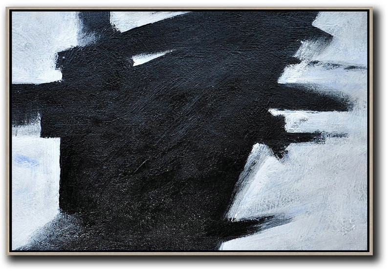 Size Extra Large Abstract Art,Oversized Horizontal Minimal Art On Canvas,Extra Large Paintings #K5R6