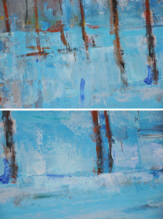 "Extra Large 72"" Acrylic Painting,Abstract Landscape Oil Painting,Original Art Acrylic Painting Blue,Grey,Red,White"