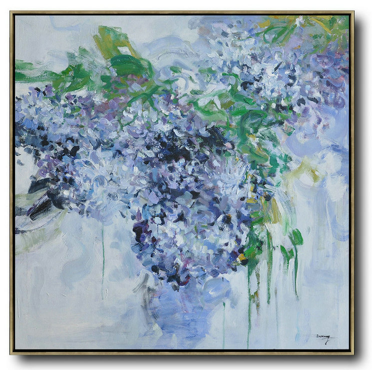 Abstract Painting Extra Large Canvas Art Abstract Flower Oil
