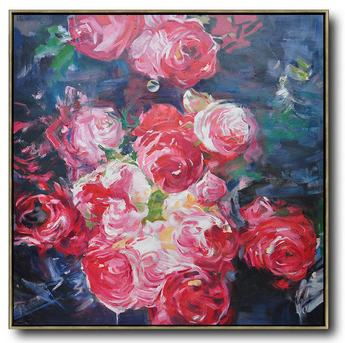 Wall Art Abstract Flower Oil Painting